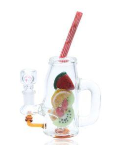 Empire Glassworks Watermelon Mason Jar Mini Dab Rig